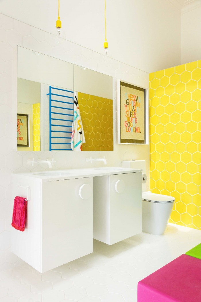 The Addition Of Plastic Stools Doubles As Access To Storage Above The Sinks For The Kids As Well As A Place To Hang Out Or Rearrange To Suit Their Needs