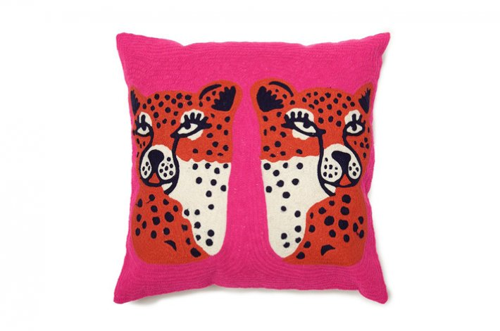Twinning Cheetahs Pillow by AELFIE