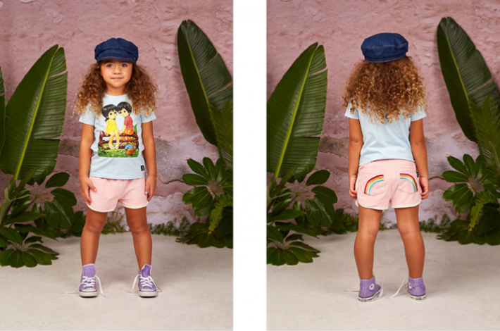 Rock Your Kid Terry Towelling Rainbow Shorts