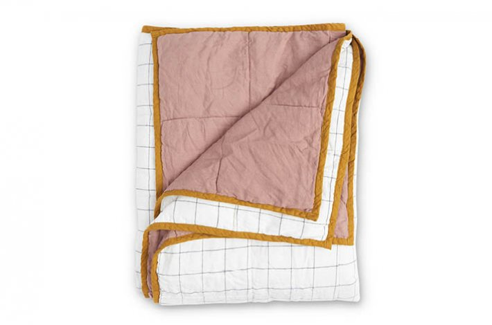 Society of Wanderers Musk/Grid Double Sided Quilt