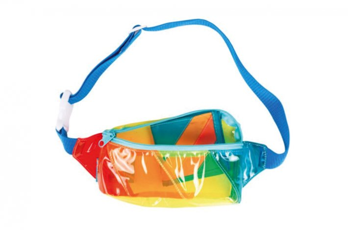 Rainbow Vinyl Fanny Pack by Mokuyobi