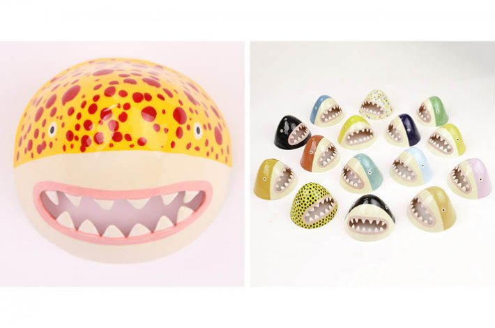 Ceramic Wall Hanging Shark Head by Lorien Stern