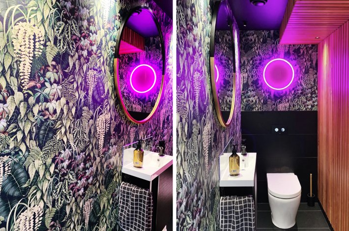 Neon Abi's Dot / Hone Powder Room
