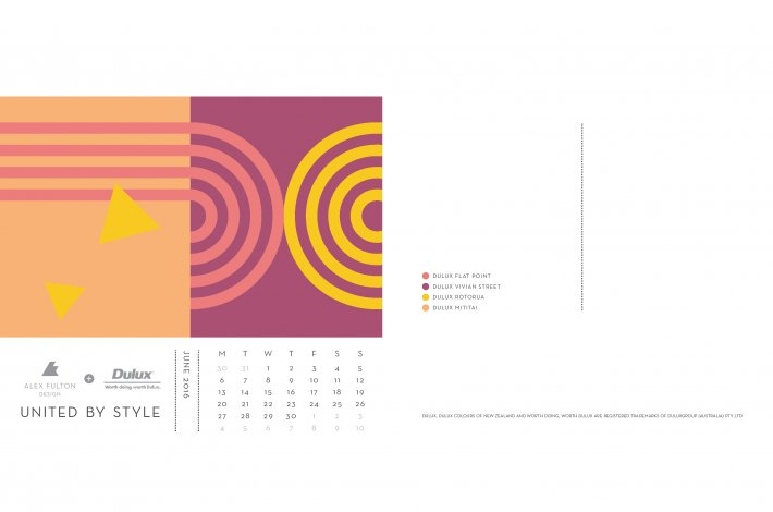 Dulux x AFD United by Style Calendar