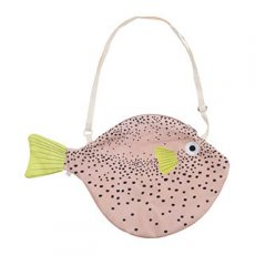 Big Pink Pufferfish Bag by Don Fisher
